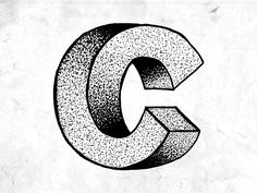 Dribbble - Illustrated Typography #16 - Escher 'C' by Rob Hampson