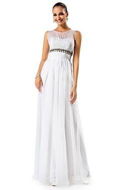 A-line/Princess Jewel Floor-length Chiffon Evening Dress – USD $ 199.99