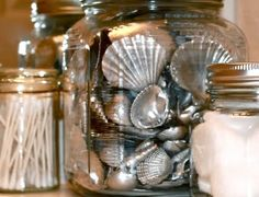 Shells you find on the beach, spray paint them with Krylon's Metallic Silver.