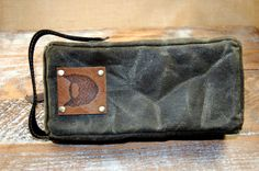 This Small Waxed Military Cotton Canvas Dopp Kit, Shaving Kit, Travel kit Toiletry Bag is the perfect Gift for boyfriend Hipsters on Valentine's Day. This also makes an excellent Groomsman gift or Father's Day Gift.  The dimensions of this bag are 8 inches x 4 inches x 1 1/2 inches. It's perfect for minimalist guys who carry a few small grooming products. This bag is 100% water resistant on the outside and is lined with a water proof fabric which can be easily wiped down.  $40 on etsy