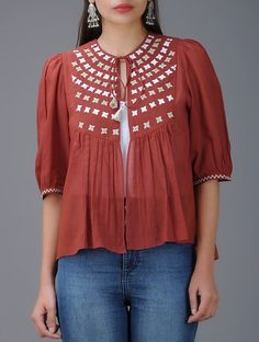 Cotton Tops For Jeans, Girls Top Design, Simple Kurta Designs, Stylish Tops For Women, Boho Chic, Fancy Tops, Summer Outfits Women, Up Girl, Stylish Dresses