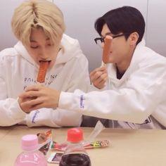 Friendship Video, Sans Cute, Jung Woo Young, Lisa Blackpink Wallpaper, Pop Photos, Funny Kpop Memes, Kim Hongjoong, Kpop Guys, Just Friends