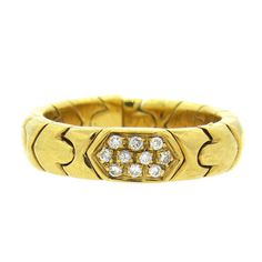 Bulgari Bvlgari Parentesi 18K Gold Diamond Band Ring Featured in our upcoming auction on November 2, 2015 11:00AM EST!