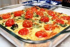 Цветной пирог с овощами