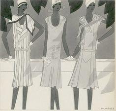 Bocetos de Jean Patou 1929