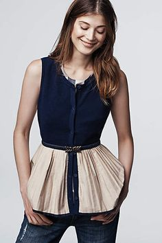 Darcy Peplum Top - anthropologie.com