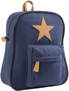 Extra cute unisex navy blue canvas backpack by the lovely Danish designers Smallstuff Coated - dirt- and water-repelling Perfect size for day care cm. Canvas Backpack, Mini Backpack, Leather Backpack, Magenta, Franck Fischer, Blue Canvas, Herschel Heritage Backpack, Star Shape, Fashion Backpack