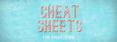 Cheat Sheets, For Everything!!!! from lightroom , elements, photoshop, tonss of other programs.