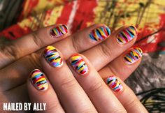 colorful but sophisticated  nailedbyally:    Inspired by a skirt