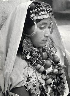 Ethnic jewelry Berber 1950.