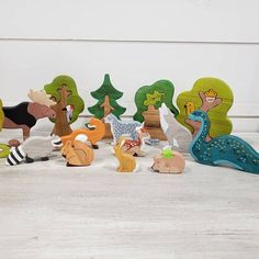 BIG SET Wooden woodland animals toys + Trees Nature table Waldorf toys Wooden toys Animal figures Toys for kids Love Photos, Cool Pictures, Waldorf Toys, Waldorf Playroom, Perfect Photo, Perfect Image, Wooden Tree, Nature Table, Wooden Animals