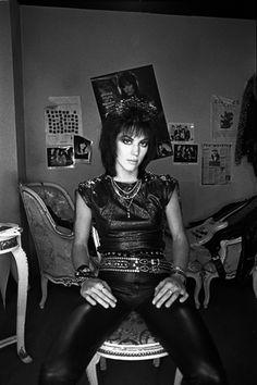 Joan Jett, West London 1984 - Derek Ridgers (P.S.-Pretty sure Joan Jett invented swagger.)