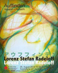 Im August 2012 zeigten wir im Schloss Mitsuko die Ausstellung »Auffinden« mit Werken von Lorenz Stefan Radeloff. Das faszinierende Farbspiel von Aquarelltechnik und Farbstift ist das Resultat der Auseinandersetzung des vielseitigen Künstlers aus Kyōto mit dem Kontrast der scharfen Kontur des Farbstifts über laviertem Aquarellgrund. Nach mehreren Ausstellungen in Tokio bereicherte Lorenz Stefan Radeloff mit seinem jüngsten Schaffen die zweite Hälfte des malerischen Sommers in Todendorf.