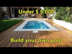 Nicole has built her own swimming pool. In this short video you can see all the materials she used and the costs she made. Nicole has made 13 step-by-step vi. Backyard Pool Landscaping, Backyard Pool Designs, Small Backyard Pools, Small Pools, Backyard Ideas, Pool Spa, Diy Pool, Swimming Pool Cost, Swimming Pool Designs