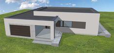 Projekt domu Artus 2 168,87 m2 - koszt budowy - EXTRADOM Duplex House Design, House Front Design, Flat Roof House, Facade House, Best House Plans, Modern House Plans, Simple House Exterior, Single Storey House Plans, My Dream Home