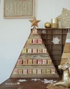 Ana White | Build a DIY Wood Advent Calendar - Feature by Saved by Love Creations | Free and Easy DIY Project and Furniture Plans