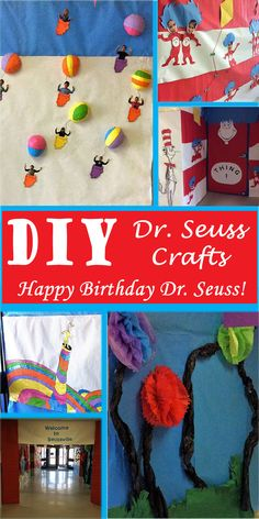 Celebrate Dr. Seuss by creating fun DIY crafts and decor at home or at school with children. They will love them!