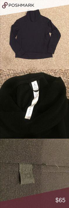 b91d121334a Lululemon Kick The Cold Black Fleece Pullover NWOT funnel neck fleece  pullover. Super soft inside