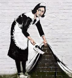 Inspired by Banksy's sweeping we take short cuts whenever possible on the stuff that really doesn't matter.