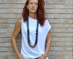 Statement fiber necklace /  Art fiber by AliquidTextileJewels