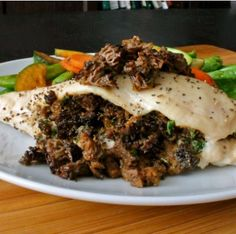 Mushroom Stuffed Chicken...easy and looks delicious!