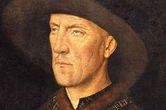 Detail van het portret van Boudewijn van Lannoy, geschilderd door Jan van Eyck in 1435. De afgebeelde persoon is Boudewijn van Lannoy (1388-1474), heer van Molembaix. Boudewijn van Lannoy was raadgever en kamerheer van Filips de Goede en was onder meer ambassadeur van aan het hof van Hendrik V van Engeland. Hij gaf opdracht voor dit portret aan Jan van Eyck nadat hij was opgenomen als ridder in de Orde van het Gulden Vlies bij de stichting van de orde in 1430. Jan Van Eyck, Abraham Lincoln, Portrait, Art, Men Portrait, Portrait Illustration, Kunst, Portraits, Art Education