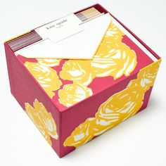 Yellow Roses Stationery Gift Set by Kate Spade