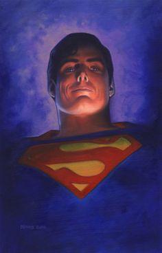 When I think of Superman, I will always think of Christopher Reeve. Superman_Christopher Reeve by ~DennisBudd on deviantART Superman Movies, Superman Art, Superman Family, Superman Man Of Steel, Batman, Superman Actors, Dc Heroes, Comic Book Heroes, Comic Books Art