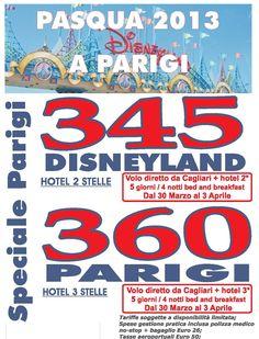 Pasqua a Disneyland o a Parigi voli da Cagliari