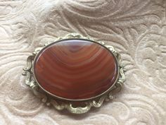 Red Banded Agate Pinchbeck Brooch Stunning Rare Scottish Banded Agate Victorian Buckle Brooch Agate Pin And Ring Puzzle Brooch