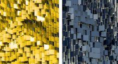 Parking Structure Art Facade. Location: 720 Eskenazi Avenue, Indianapolis, USA; firm: Urbana; photos: Serge Hoeltschi; year: 2014