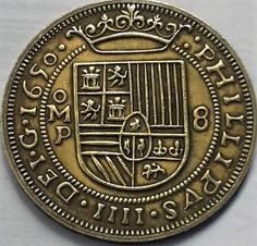 a 1650 Mexico 8 Reales (pieces of eight) Copied from Spanish Galleon Shipwreck treasure. Spanish Galleon, Pieces Of Eight, Mermaid Room, Shipwreck, Rare Coins, Jewelry Design, Unique Jewelry, Medieval, Mexico