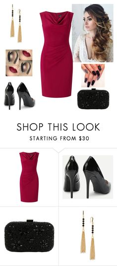 """Beautiful"" by paoladouka on Polyvore featuring Adrianna Papell, Santi and INC International Concepts"