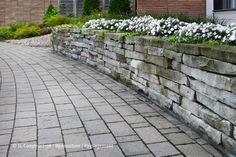Pavé-uni - Aménagement paysager, paysagement 450 983-6661  info@jl-paysagement.com  jl-paysagement.com Cherry Kitchen, Info, Patio Ideas, Sidewalk, Garden, Lawn, Landscape Fabric, Landscape Planner, Patio