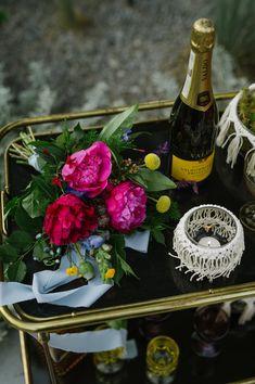 Intimate Backyard Elopement Inspiration - backyard inspiration // elopement // lets get married // special day // bar cart // coloured glass // styled bar cart // bridal bouquet Wedding Locations, Wedding Vendors, Wedding Blog, Our Wedding, Dream Wedding, This Kind Of Love, Bar Cart Styling, Elopement Inspiration, Orange