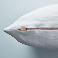 Vintage Linen Pillow Case with Copper Zipper on Food52