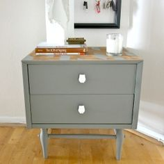 Use painters tape to create any design on furniture!