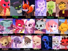 I made a layout of all the kwami's seen in the show and their names! Hope you enjoy!