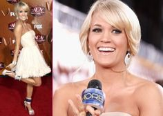 CARRIE UNDERWOOD'S WORKOUT:    • 10 to 15 minutes of walking, then jogging on a treadmill  • stretching on the mat and with a foam roller  • pull-ups, push-ups, lunges, jump squats and other crazy, sweat-inducing moves in quick 20-second bursts, repeated 10 times each  • step-ups on a bench with weights, leg extensions on a machine  • 10 to 15 minutes of treadmill and jump rope work  • crunches of all varieties  • more stretching     Drink tons of water! It's a natural cleanser!
