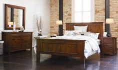 Gembrook Bedroom Furniture by John Young Furniture from Harvey Norman New Zealand Buy Electronics, Harvey Norman, Dream Bedroom, Bedroom Furniture, Sweet Home, Rustic, Home Decor, Bed Furniture, Country Primitive