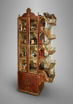 """steampunktendencies: """" John Carlsson, Dollhouse and furnishings (© Roma Capitale—Sovrintendenza Capitolina ai Beni Culturali—Collezione di giocattoli antichi, CGA LS photo by Bruce White) """" Miniature Rooms, Miniature Houses, Art Nouveau, All The Small Things, Miniture Things, Fairy Houses, Antique Dolls, Vintage Toys, Wooden Toys"""