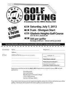 Free registration form template golf tournament registration mid michigan community college hockey fundraiser golf outing maxwellsz