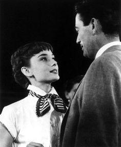 Audrey Hepburn and Gregory Peck
