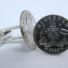 Australian Sixpence Coin Cufflinks is the best present idea for men. Gift a pair of handcrafted Australian coin cufflinks to someone who deserves them.