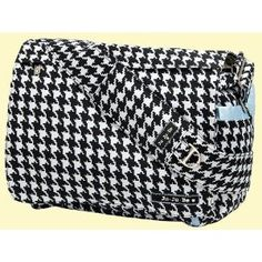 Ju Be Houndstooth Diaper Bag Cute Changing Station Clothing Swap