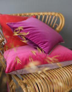 Plain Cushions, Velvet Cushions, Designers Guild, Cotton Velvet, Autumn Home, Linen Bedding, Home Accessories, Bed Pillows, Contemporary