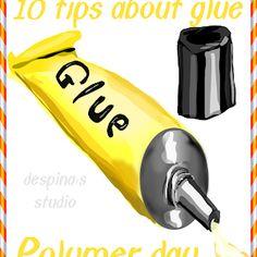 Πολυμερικός πηλός : τα μυστικά της κόλλας - Polymer day : 10 tips about adhesive   despina's studio Clay Tutorials, Adhesive, Polymer Clay, Day, Tips, Modeling Dough, Counseling