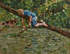 Summer at the Creek - Julie Mazzoni Mosaics