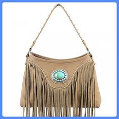 Christmas Gift Western Concho Fringe Hobo Bag