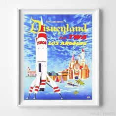 Disneyland Print Animal Zoo Disney Wall Art Poster Vintage Home Decor UNFRAMED